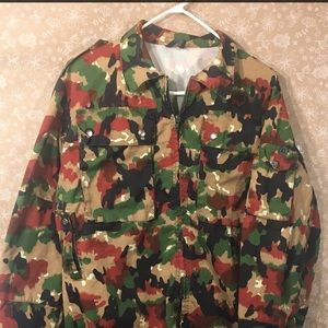 2d8f241812e96 Jackets   Coats - Camouflage Swiss Military 80s Vintage Field Jacket